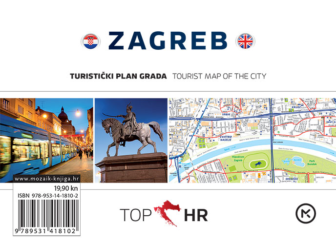 TOP HR - ZAGREB plan grada / map of the city
