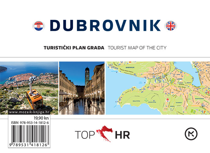 TOP HR - DUBROVNIK plan grada / map of the city