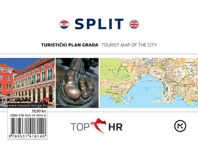 TOP HR - SPLIT plan grada / map of the city