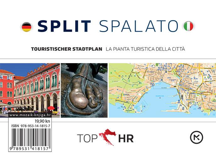 TOP HR – SPLIT / SPALATO stadtplan / la pianta della citta