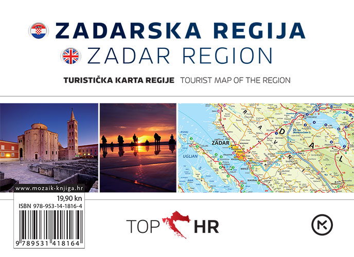 TOP HR – ZADARSKA REGIJA / ZADAR REGION plan grada / map of the city