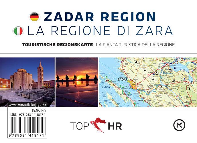TOP HR – ZADAR REGION / LA REGIONE DI ZARA stadtplan / la pianta della citta