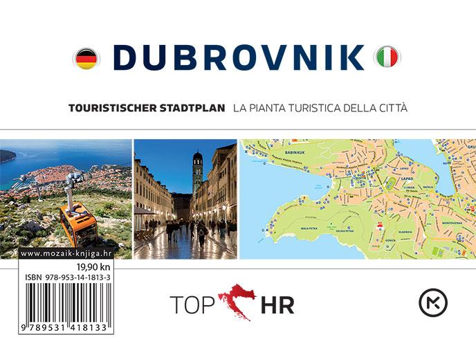 TOP HR – DUBROVNIK stadtplan / la pianta della citta